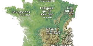 La carte du déconfinement français suite à l'épidémie de Coronavirus