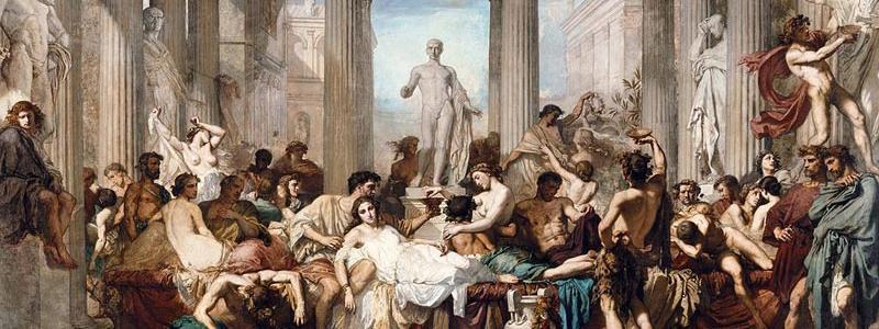 Illustration d'une orgie au moyen-âge
